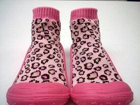 スキッダーズ ソックスシューズ レオパード ピンク 上履き 上靴 すべり止め付き ソックス 赤ちゃん ベビー キッズ ベビーシューズ ベビー靴 カジュアル かわいい かっこいい 男の子 女の子 プレゼント