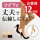 【送料無料】12足組 丈夫 伝線しにくい ひざ下丈 ストッキング