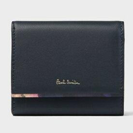 ポールスミス 財布 折財布 二つ折り フォトグラムアイリストリム ネイビー Paul Smith
