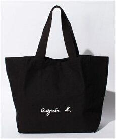 【あす楽】アニエスべー バッグ トートバッグ ロゴ ブラック agnes b