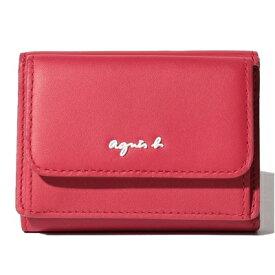 アニエスべー 財布 折財布 三つ折り ミニ財布 レッド agnes b