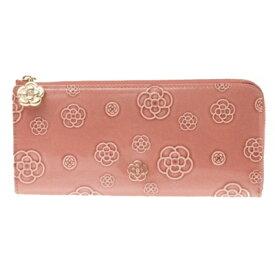 クレイサス 財布 CLATHAS バッグ クレイサス 正規品 新品 クレイサス カメリア型押ラウンド長財布 ピンク