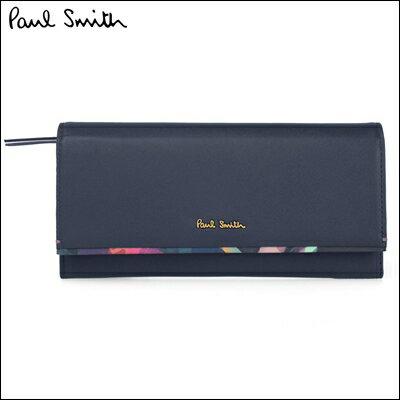 ポールスミス 財布 Paul Smith バッグ ポール・スミス 新品 ポール スミス 正規品 フォトグラムアイリストリム 長財布 ネイビー