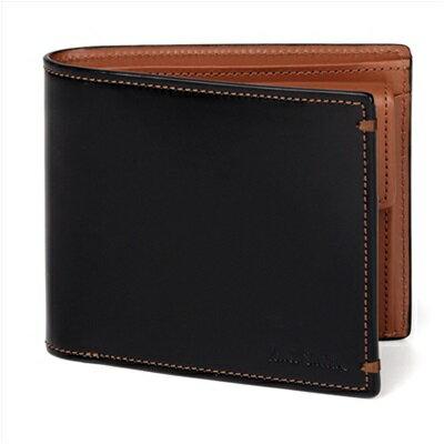 ポールスミス 財布 Paul Smith バッグ ポール・スミス 新品 ポール スミス 正規品 NEWコードバン 2つ折り財布 ブラック