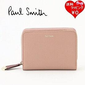 【あす楽】ポールスミス ハートプル2 二つ折り財布 ピンク