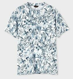 ポールスミス Tシャツ トロピカルスケッチ ホワイト M Paul Smith