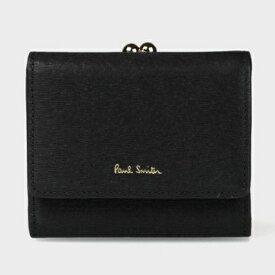 ポールスミス 財布 折財布 レディース ストローグレインレザー 3つ折り財布 ブラック Paul Smith