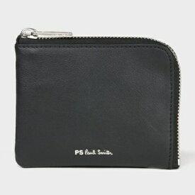 ポールスミス 折財布 PSストライプ ジップ 2つ折り財布 ブラック Paul Smith ポール スミス