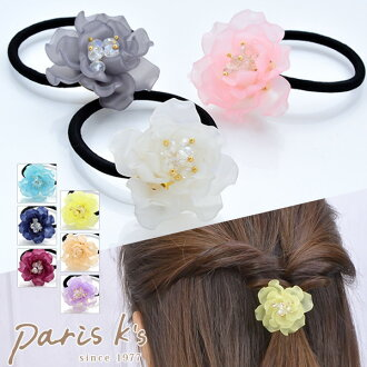 Hair rubber flower flower flower hair accessories hair lye central and pacific leagues tercolor translucency beads dazzle