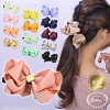 ■ Banana clip size grain ribbon hair accessories refined color Shin pull size Luxury's
