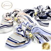 Chou chou ribbon hair accessories stripe Luxury's