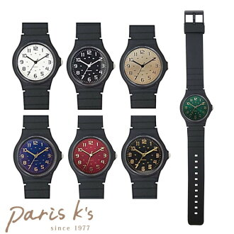 The simple sporty Coorg Lean blue that watch Lady's rubber color black guilt is black