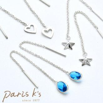 Silver 925 open heart American earrings   Cute ladies silver axe presents summer favors pale kids store