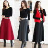 And with autumn and winter / long flea skirt / adult black wine/gray belt, skirt / large size available