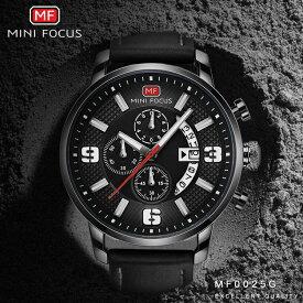 2fcc805b8e MINI FOCUS メンズ ファッション スポーツ ミリタリーマルチ クォーツ 腕時計 カレンダー MF0025G