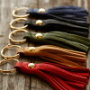 ◆A tassel ◆ leather studio PARLEY maker direct marketing feel Finnish elk leather accessory handmade product finest softly made in Japan is soft