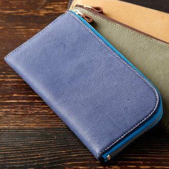 ◆L型长钱包◆日本制造皮革工作室PARLEY厂商直销松软的最好的触感finrandoerukurezasumahokesu小袋子笔盒手佣人柔软