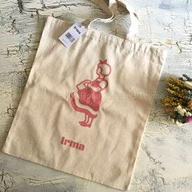 irma イヤマ トートバッグ ピンク コットン デンマーク 海外スーパーマーケット エコバッグ