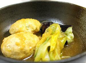 鶏つくねの生姜煮