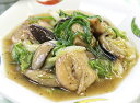 白菜と鶏肉のラー油炒め