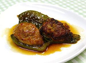 ピーマンの肉詰め(つくね味)