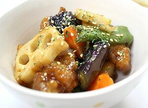 鶏肉といろいろ野菜の黒酢炒め