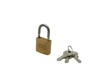 株式会社ハイロジック G-022 ステン弦Wロック シリンダー南京錠 30mm 鍵番号指定同一キー 3本キー 1個入