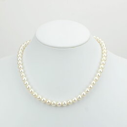 【レンタル4日間】レンタル真珠ネックレス068定番あこや本真珠ネックレス&イヤリングセット(7.5mm-8mm珠)【往復送料無料】