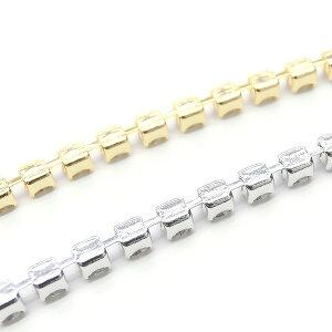 ダイヤレーン★PRECIOSA(プレシオサ)社製クリスタルストーンの連爪★K16GP・本ロジウム