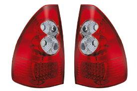 SONAR(ソナー) テールライト トヨタ ランドクルーザープラド LED テール ランプ クローム インナー レッド&クリスタル レンズ 120系 ランドクルーザープラド