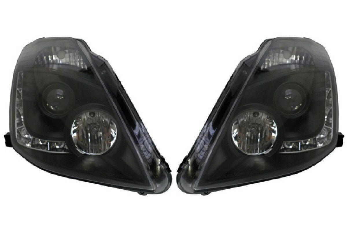 SONAR(ソナー) ヘッドライト 日産 フェアレディZ DRLスタイル プロジェクター ヘッドライト ブラック インナー Z33 フェアレディZ ハロゲン車用