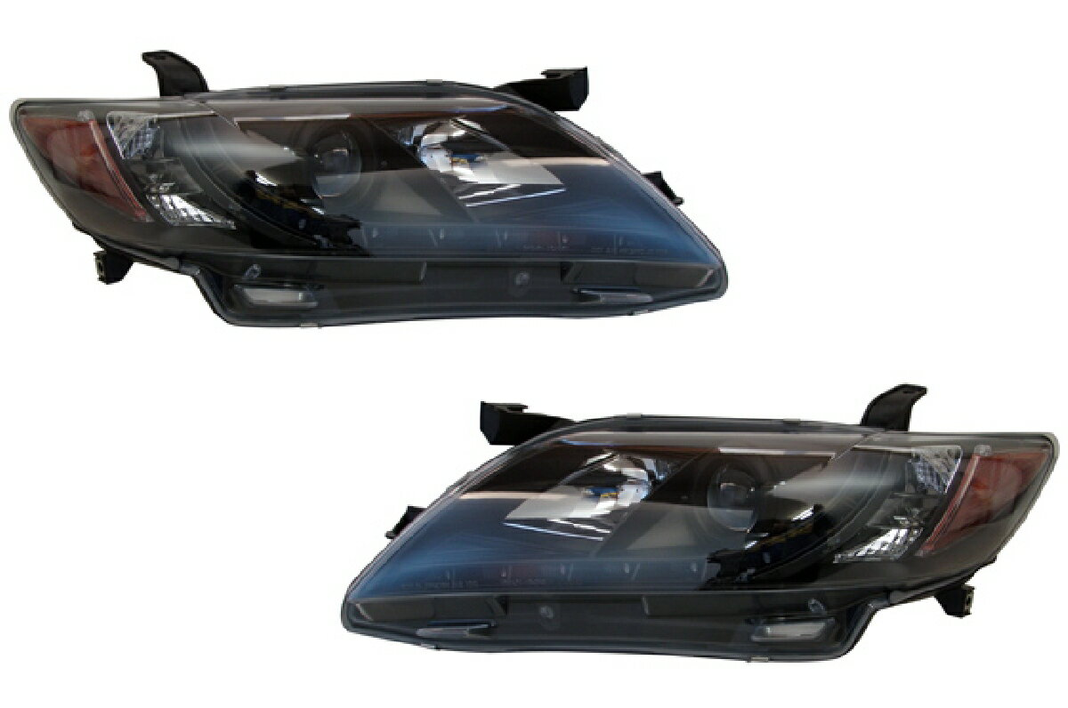 SONAR(ソナー) ヘッドライト トヨタ カムリ  DRLスタイル プロジェクター ヘッドライト ブラック インナー ACV40/45 カムリ