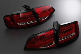 SONAR(ソナー) テールライト アウディ A4 LED テール ランプ クローム インナー レッド&クリスタル レンズ 08-UP AUDI A4 8K セダン
