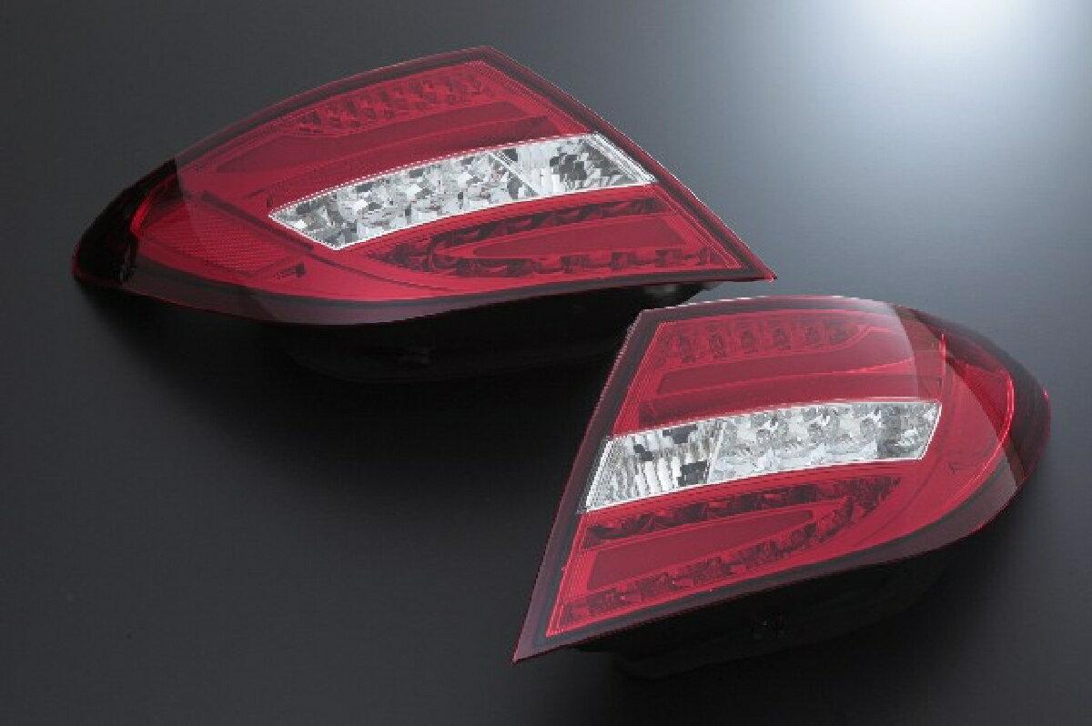 SONAR(ソナー) テールライト メルセデス・ベンツ Cクラス LED ライトバー テール レンズ レッド&クリア 11-13 BENZ W204 C-CLASS 後期