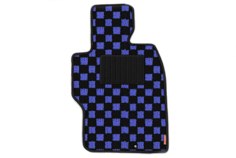 カーマット フロアマット 日産 エルグランド 9年5月〜14年5月 7人乗※フロントセンターの形状が異なるためMC前後確認-スポーツチェック ブルー