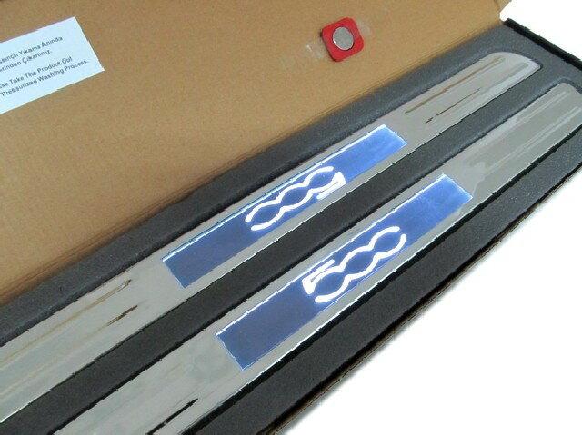OMTEC(オムテック) OMTEC イルミネーションドアシルプレート for FIAT/ABARTH500 /代引き不可