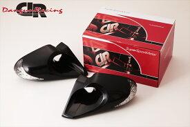 SuperSportMirror(スーパースポーツミラー) 日産 シルビア ドアミラー JTCミラーLED ブラック/手動/左ハンドル車 S13 シルビア/180SX/R32 スカイライン 2ドア