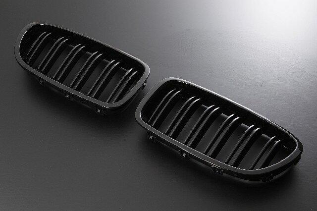 Europarts(ユーロパーツ) BMW 5シリーズ F10 グリル キドニーグリル BMW 5シリーズ F10 M5ルック 09-UP グロスブラック