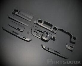 キャラバン NV350(E26系) 標準 3D インテリアパネル 12ピース/12P[黒木目] インテリアウッドパネル/内装/インパネ