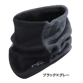 おたふく手袋 BODY TOUGHNESS 発熱防風 ネックウォーマー[ブラック×グレー] JW124BGL