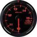 【即納】Defiレーサーゲージ赤52φ電圧計