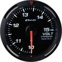 Defiレーサーゲージ白52φ電圧計