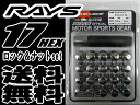 【即納・正規品】RAYS 17HEX ロックナットセット 5H用 クローム