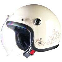 【送料無料】リード工業 Street Alice QP-2 スモールロージェットヘルメット アイボリー メーカー品番:QP-2【あす楽対応】