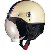 リード工業 CROSS CR-760 ハーフヘルメット アイボリー×ネイビー