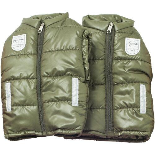 ダウンジャケットのような形状でぽかぽか!サイクルジャケット ハンドルカバー K4100 カーキ 1セット 防寒・防水・撥水 TVでも紹介されました!【あす楽対応】