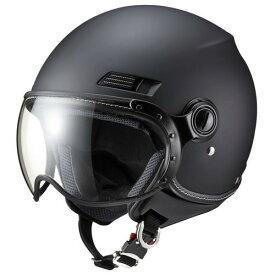 【1/24 20時-1/25迄全品ポイント3倍】ジェットタイプ 3403M ジェットヘルメット MS-340 マットブラック M マルシン工業(Marushin) 本体:マットブラック シールド:クリア 1個