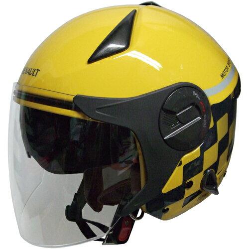 【送料無料】FS RN-999W ルノー Wシールドジェットヘルメット イエロー 1個単位 RN-999W【あす楽対応】
