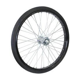 26×2 1/2 ノーパンクタイヤ付リムセット 組付 ブラック オオシマ 1本