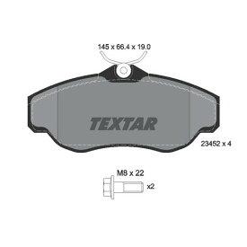 取寄 2345201 2345201 ブレーキパッド Textar 1セット(4枚入)